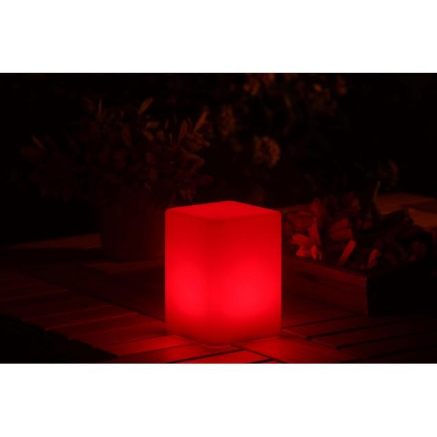 Kerti LED mécses lámpa színváltós hasáb alakú