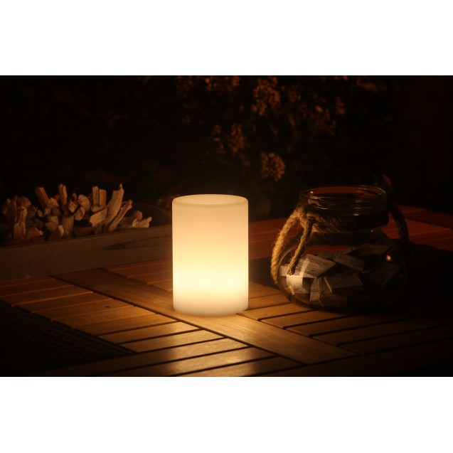 Kerti LED mécses lámpa színváltós henger alakú