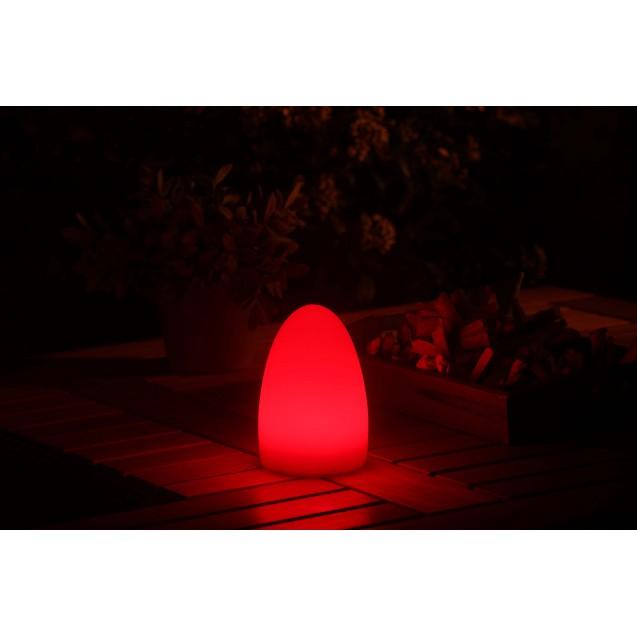 Kerti LED mécses lámpa színváltós tojás alakú