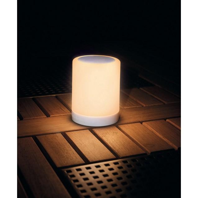Kerti LED mécses lámpa színváltós zenélő henger alakú