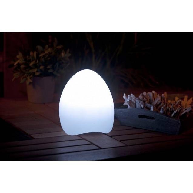 Kerti LED lámpa színváltós tojás alakú zenélő