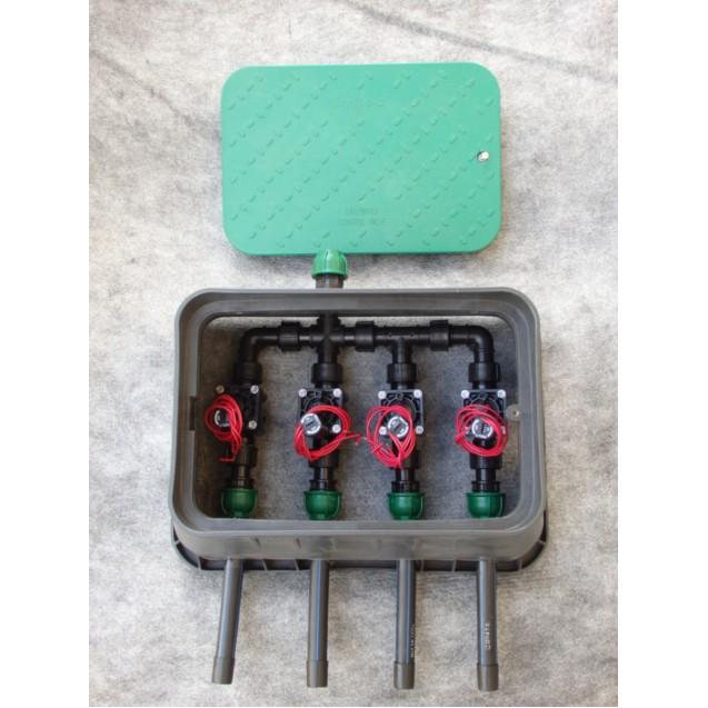 Négy mágnesszeleppel szerelt szelep doboz